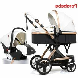 3 IN 1 Baby Stroller Newborn Carriage Infant Travel Car Fold