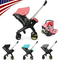 4 in1 Luxury Newborn Baby Stroller Infant Portable Without B