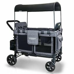 4 SEAT WONDERFOLD W4 Multi-Function Folding Gray Quad Stroll