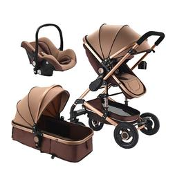 Baby Stroller 3 in 1 with Car Seat For Newborn High View Fol