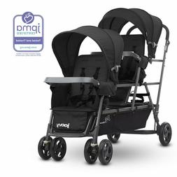 Joovy Big Caboose Graphite  Stand On Triple Baby Stroller Bl