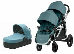 Baby Jogger City Select Twin Double Stroller Lagoon w Second