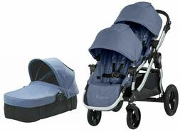 Baby Jogger City Select Twin Double Stroller Moonlight w/ Se