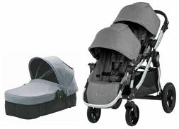 Baby Jogger City Select Twin Double Stroller Slate w Second