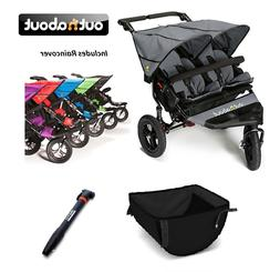 Out n About Double Nipper 360 V4/Basket/Tyre Pump/Raincover-