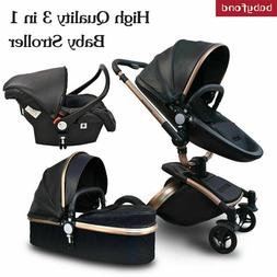 High End Baby Stroller 3 In 1 Foldable Travel System 360 Rot