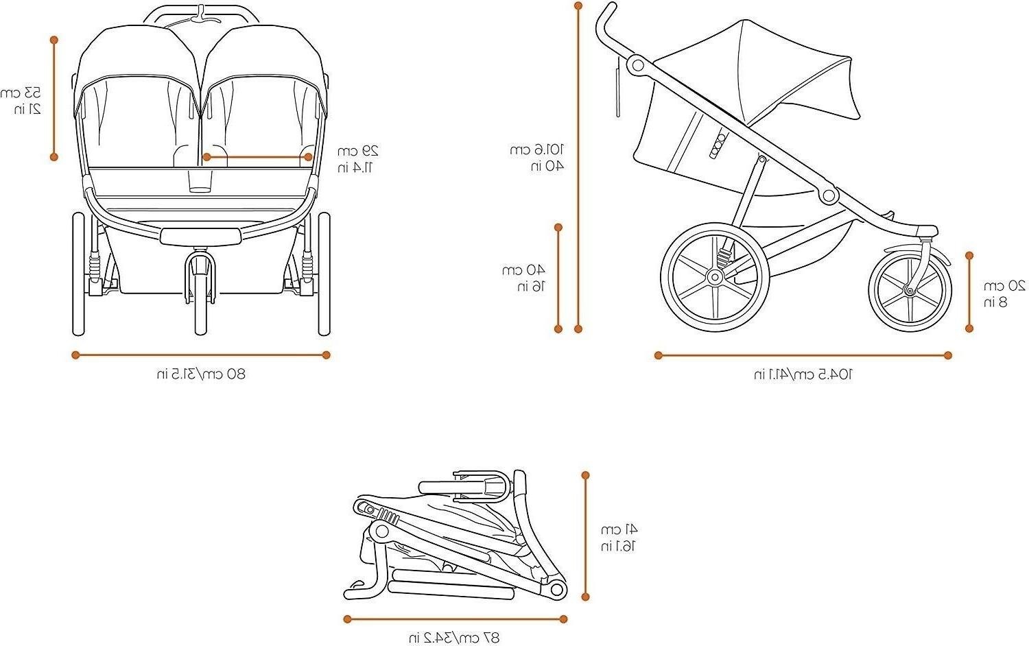 Baby Double Stroller Twins Nursery Thule Travel System