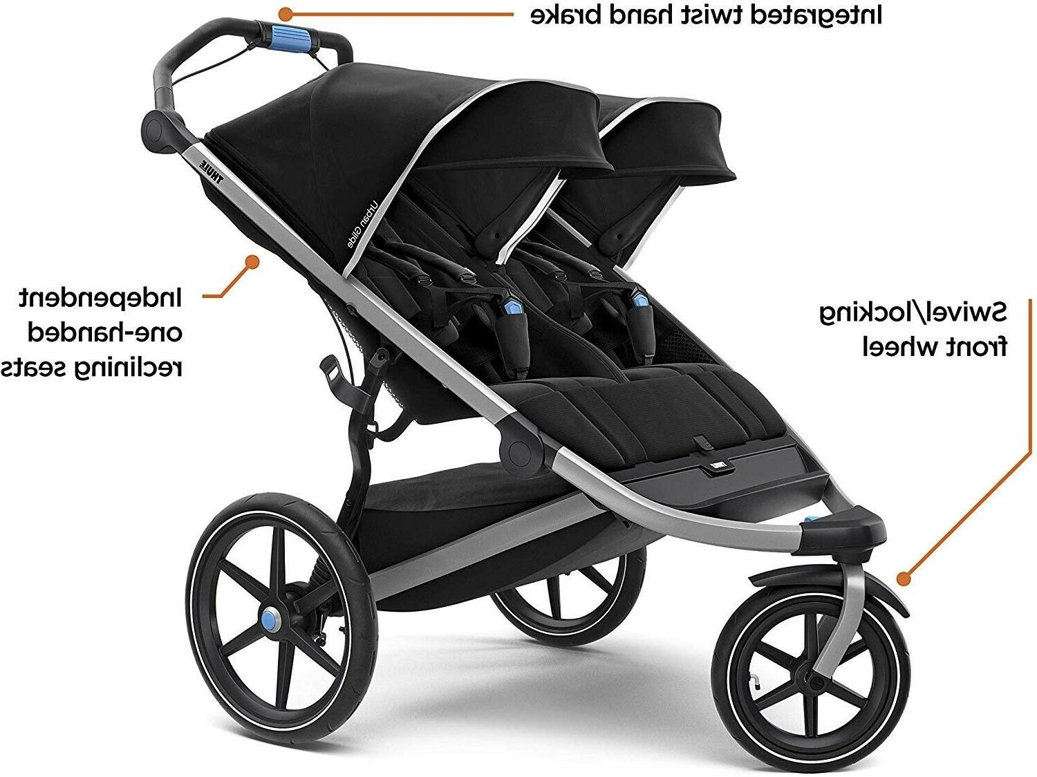 Baby Jogging Stroller Twins Center Playard Thule Travel System