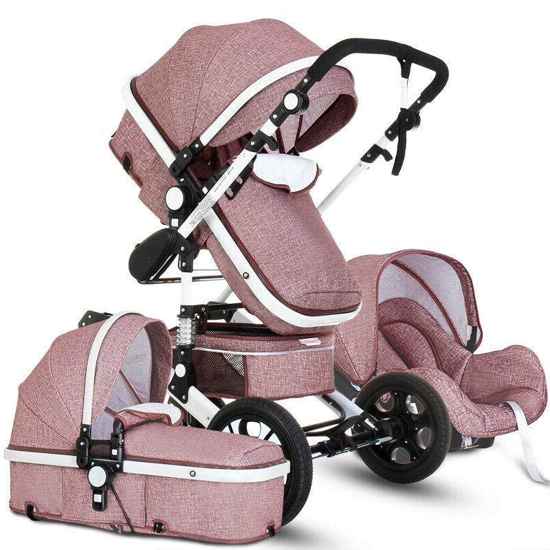 baby stroller 3 in 1 high view
