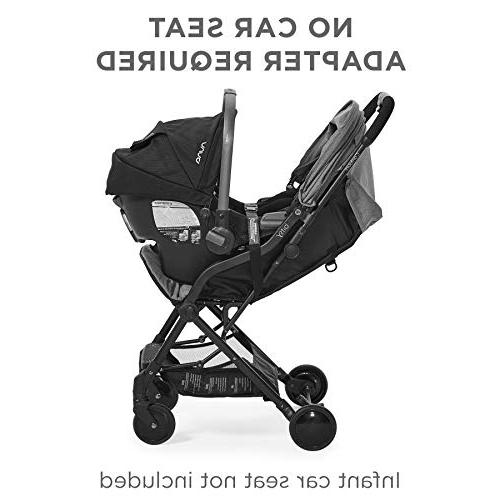 Contours Bitsy Lightweight Stroller, Canopy, Reclining Seat, Friendly, One-Hand Large Storage Basket, Seat Compatibility, Bermuda