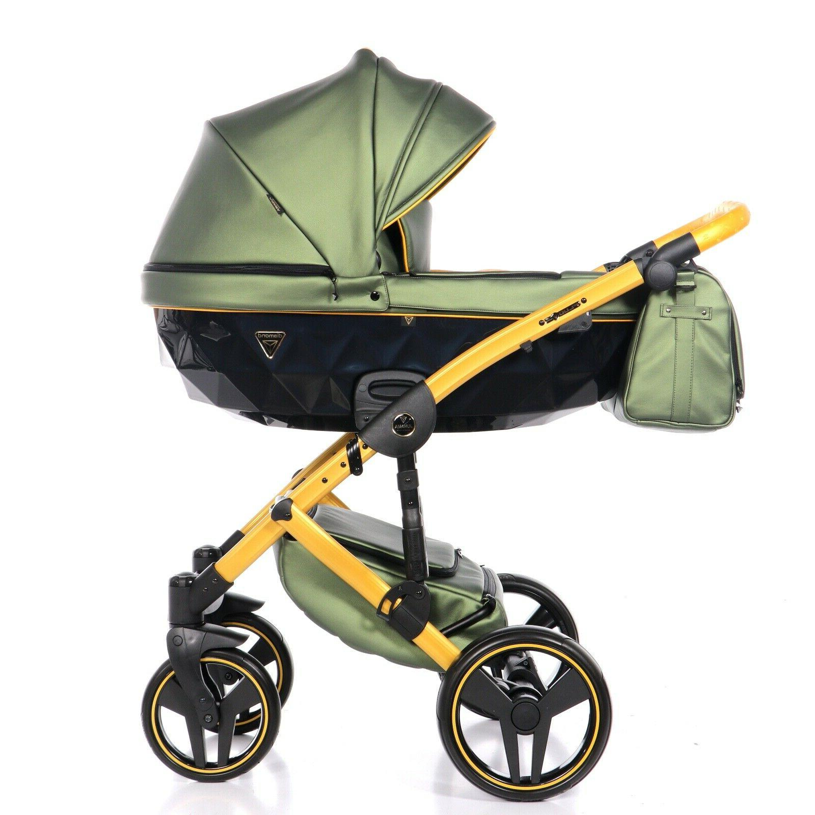 exclusive pram fluo2 green yellow baby stroller