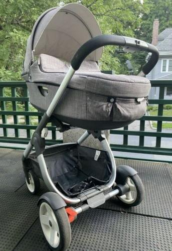 trailz all terrain stroller and carrycot gray