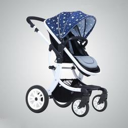 CoBaby Luxury Baby Stroller, 2 in 1, Bidirectional with Shoc