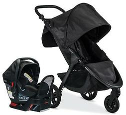 New Britax B-Free Stroller & Endeavours Infant Car Seat Trav