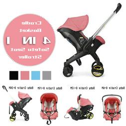 Portable 4 in 1 Newborn Baby Strollers With Accesories PINK