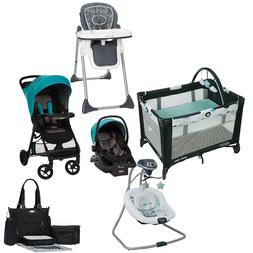Safety Baby Travel System Stroller with Car Seat Bouncer Hig